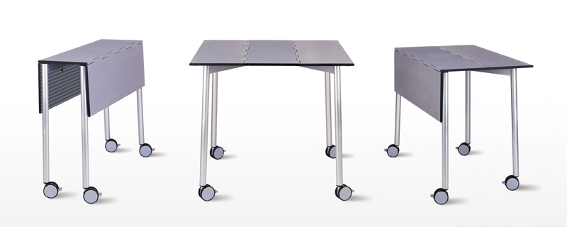 Steelnovel table de r union mobile join me de chez dauphin - Table pliante a roulettes ...