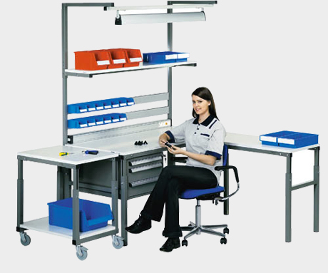 Poste de travail ergonomique industriel steelnovel - Table atelier industriel ...